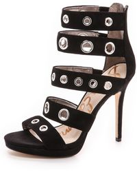 Sam Edelman Eloise Platform Grommet Sandals - Black - Lyst