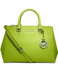 MICHAEL Michael Kors Jet Set Leather Medium Dressy Travel Tote Bag - Lyst