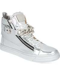 Giuseppe Zanotti Metallic High-Top Trainers - For Men - Lyst