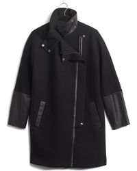 Madewell Leatheredged City Grid Coat - Lyst