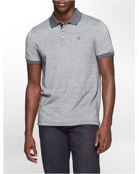 Calvin Klein Classic Fit Tipped Collar Cotton Pique Polo Shirt - Lyst