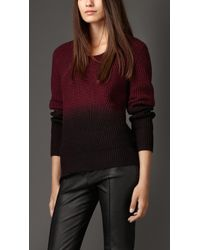 Burberry Merino Wool Silk Dip Dye Sweater - Lyst