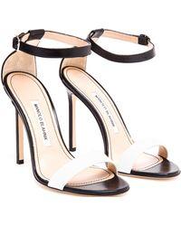 Manolo Blahnik Chaos Leather Sandals - Lyst