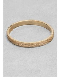& Other Stories - Ball Studded Brass Bangle - Lyst
