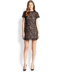 RED Valentino Embroidered Cut Out Detail Dress - Lyst