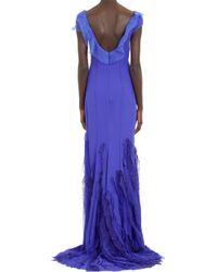 Nina Ricci Crêpe Panel Gown - Lyst