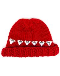 Wool And The Gang | Knitted Heart Beanie Hat | Lyst