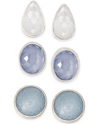 Style & Co. | Silver-tone Ice Blue Stud Earring Set | Lyst