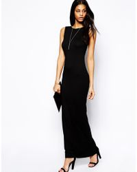 Asos Maxi Dress with Plunge Back - Lyst