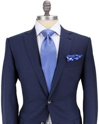 Ermenegildo Zegna Blue with Blue Windowpane Suit - Lyst