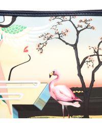 Mary Katrantzou Canvas Flamingo Pouch - Lyst