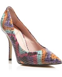 Moschino Cheap & Chic Pointed Toe Pumps - Snake Print High Heel - Lyst