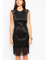 Little Black Dress - Rachel Dress With Lace Panels - Lyst