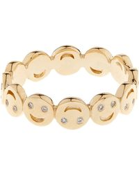 Alison Lou - Diamond & Yellow-Gold Happy Faces Ring - Lyst