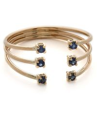 Jennie Kwon - Sapphire Cage Cuff Ring - Sapphire/gold - Lyst