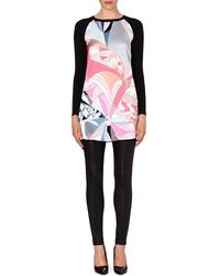 Emilio Pucci Silkpanel Knitted Dress Pink - Lyst