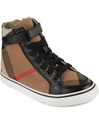 Burberry House Check High-top Trainers - Lyst