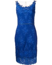 Notte By Marchesa Illusion Neck Cocktail Dress - Lyst