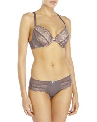 Blush Lingerie - Dalliance Full Contour Bra   Hipster Panty - Lyst 768980371