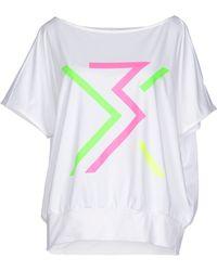 Y-3 T-Shirt white - Lyst