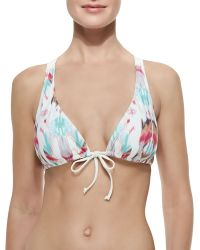 L Space Swimwear By Monica Wise Knotty-Back Swim Top - Lyst
