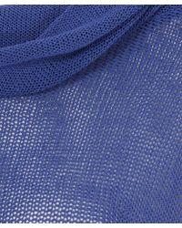 Sarah Pacini - Blue Twist Roll Neck Knitted Jumper - Lyst