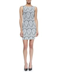 Alice + Olivia Alice Olivia Donovan Lace Sleeveless Sheath Dress - Lyst