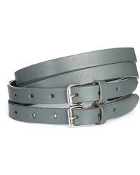 JOSEPH - Leather Double Belt - Lyst