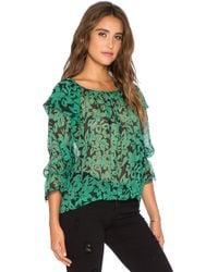 Twelfth Street Cynthia Vincent - Ruffle Tie Blouse - Lyst