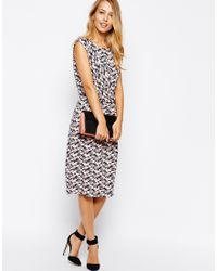 Oasis Tulip Print Dress - Lyst