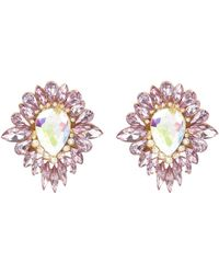 River Island Pink Teardrop Surround Stud Earrings - Lyst