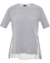 Joseph Wool And Printed Silk Sweater - Lyst