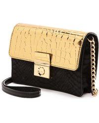 Milly Sienna Cross Body Mini Bag  Black - Lyst