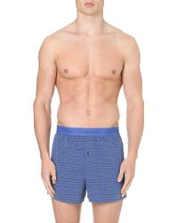 Calvin Klein Checked Woven Boxers - Lyst