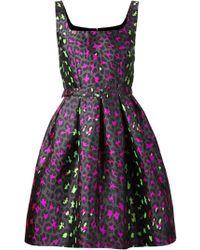 Christopher Kane Leopard Jacquard Princess Dress - Lyst