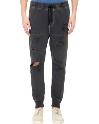 Bliss and Mischief - Distressed Colby Jogger Pants-Black Size Xl - Lyst