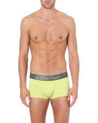 Calvin Klein Zinc Micro Trunks - Lyst