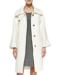 Milly Manon Wool-Blend Coat - Lyst