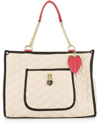 Betsey Johnson Be My Everything Quilted Pvc Tote - Lyst
