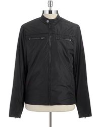 Michael Kors Black Moto Jacket - Lyst