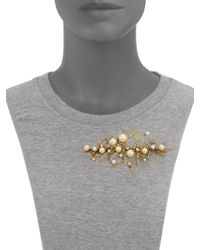 Erickson Beamon - Stratosphere Crystal & Faux Pearl Pin - Lyst
