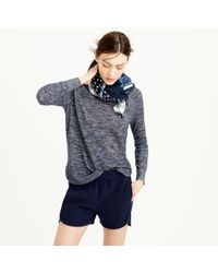 J.Crew Heathered Linen High-Low Sweater - Lyst