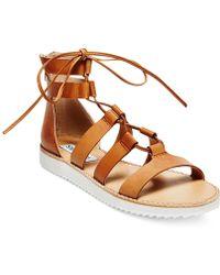 Steve Madden Women'S Marvell Lace-Up Gladiator Sandals - Lyst