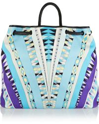 Emilio Pucci Leather-trimmed Printed Cotton-canvas Tote - Lyst