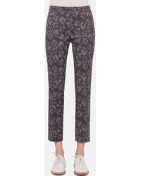 Akris Punto 'Franca' Print Stretch Cotton Ankle Pants - Lyst