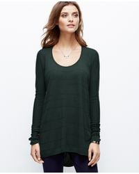 Ann Taylor Seamed Tunic Sweater - Lyst
