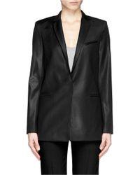 Helmut Lang Glossy Wool Blazer black - Lyst