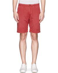 Scotch & Soda Garment Dyed Cotton Twill Shorts - Lyst