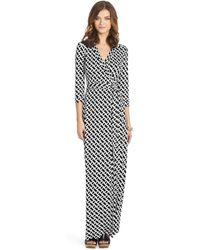Diane von Furstenberg Abigail Maxi Silk Jersey Wrap Dress - Lyst