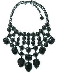 Zara Gothicstyle Rhinestone Necklace - Lyst